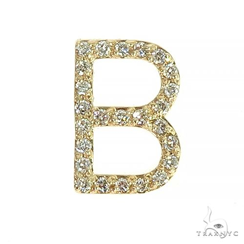 14K Gold Diamond Initial Collection 66605 Stone
