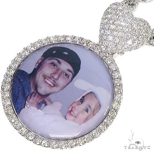 14K Gold Diamond Photo Pendant and Rope Chain Set 66834 Metal