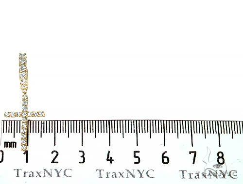 14K Gold Diamond Single Cross Earrings  66197 Stone