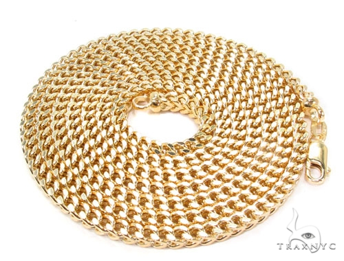 14K Gold Franco Chain 38 Inches 3mm 32.9 Grams Gold