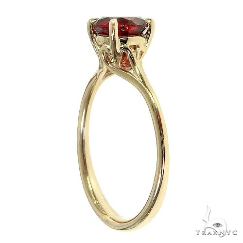 14K Gold Garnet Solitaire Engagement Ring 66422 Engagement