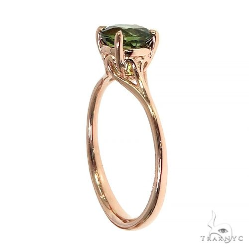 14K Gold Green Tourmaline Solitaire Engagement Ring 66429 Engagement