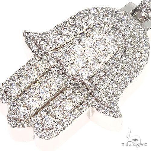 14K Gold Hamsa Diamond Pendant 66870 Metal
