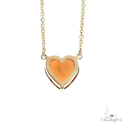 14K Gold Heart Shape Citrin Necklace 66747 Gemstone