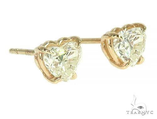 14K Gold Heart Shape Diamond Earrings 66187 Stone