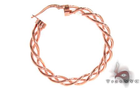 14K Gold Hoop Earrings 31346 Metal