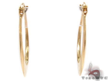 14K Gold Hoop Earrings 31357 Metal