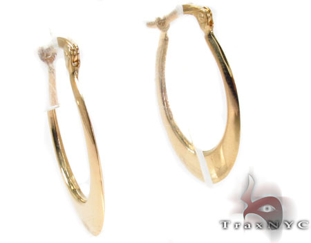 14K Gold Hoop Earrings 31357 Metal