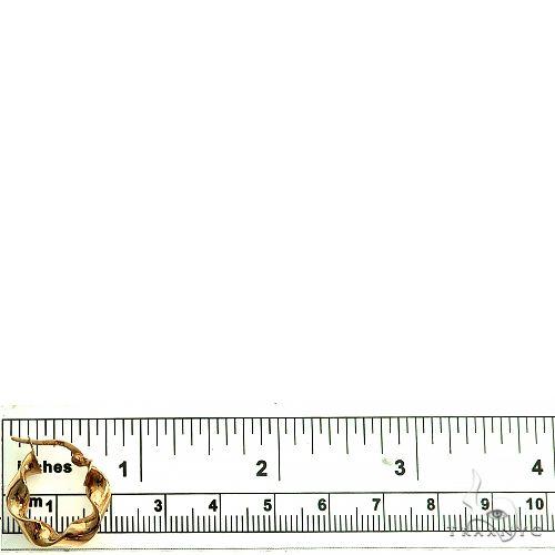 14K Gold Hoop Earrings 66558 Metal