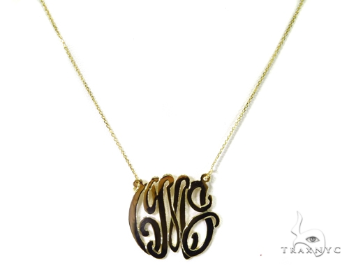 14K Gold Initial Necklace 39271 Gold