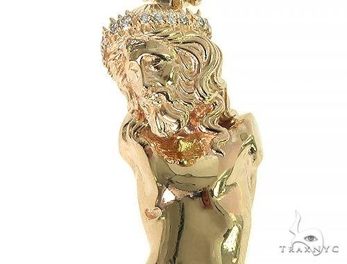 14K Gold Jesus Crucifix Pendant 66204 Metal