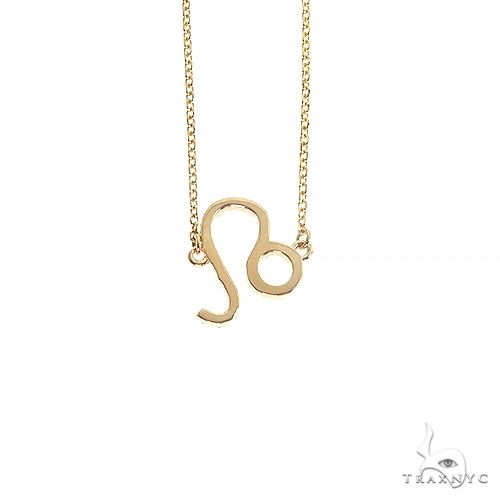 14K Gold Leo Diamond Necklace 66720 Diamond