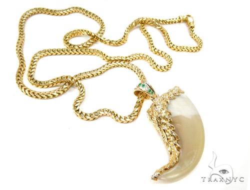 14K Gold Lion Claw Chain Diamond