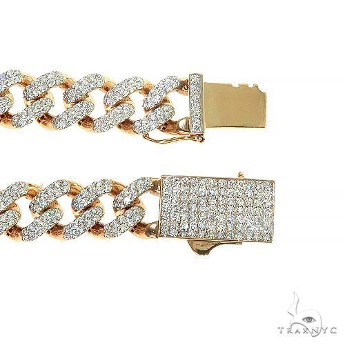 14K Gold Miami Cuban Diamond Bracelet 66391 Diamond