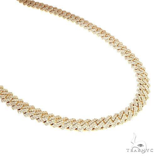 14K Gold Miami Cuban Diamond Chain 22 Inches 10mm 165.0Gr 66583 Diamond