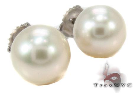 14K Gold Pearl Earrings 31769 Stone