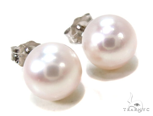 14K Gold Pearl Earrings Metal