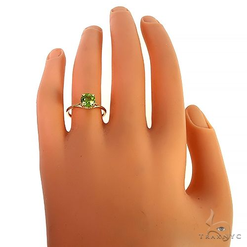 14K Gold Peridot Solitaire Engagement Ring 66426 Engagement