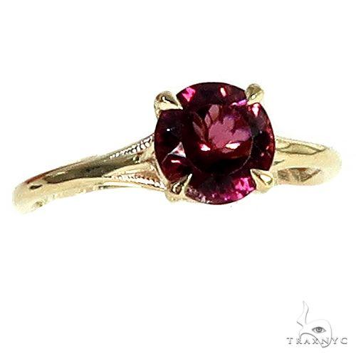 14K Gold Pink Tourmaline Engagement Ring 66425 Engagement