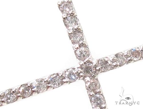 14K Gold Prong Diamond Cross Crucifix Bracelet 36640 Diamond