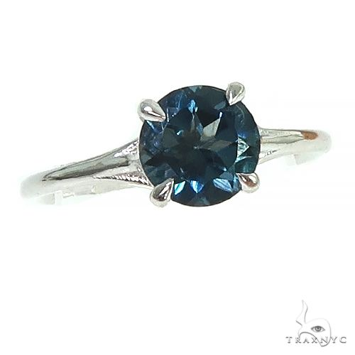 14K Gold London Blue Topaz Solitaire Engagement Ring 66432 Engagement