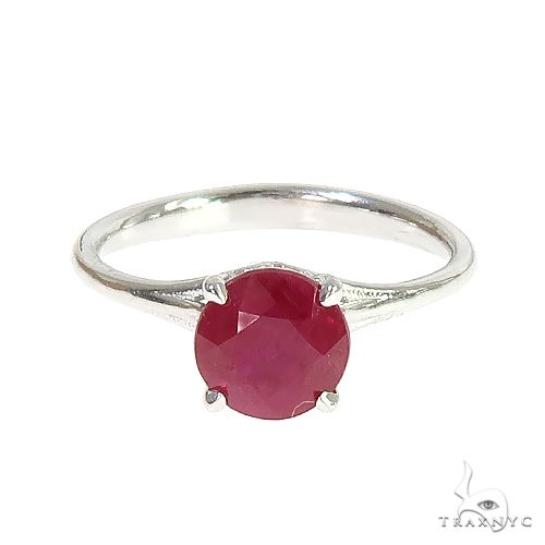 14K Gold Ruby Solitaire Engagement Ring  66602 Engagement