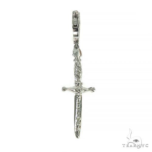 14K Gold Sword Skull Single Earring 66523 Style