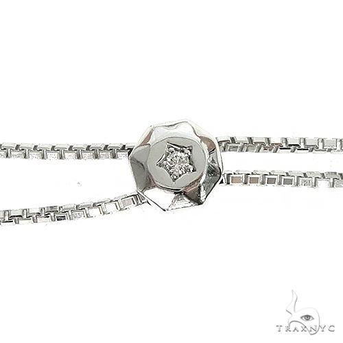 14K Gold Three Prong Diamond Adjustable Bolo Tennis Chain Necklace 66397 Diamond