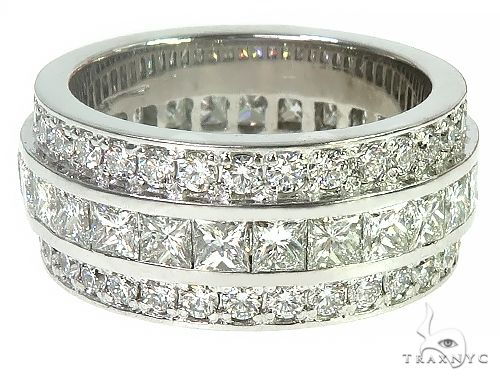 14K Gold Three Row Diamond Ring 66259 Engagement