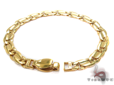 14K Gold Tiger Eye Bracelet 31276 Gold