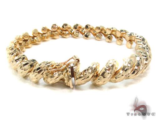 14K Gold Twist Bracelet 34954 Gold