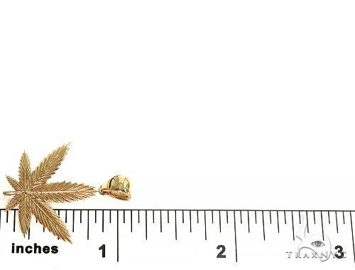 14K Gold Weed Pendant 66342 Metal