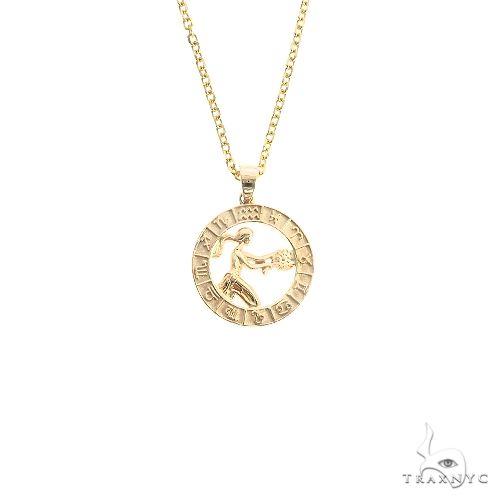 14K Gold Zodiac Sign Pendant Set 66724 Metal
