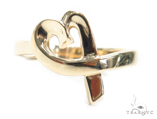 14K Heart Gold Ring 41585 Anniversary/Fashion