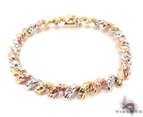 14K Multi-Color Bracelet 34951 Gold