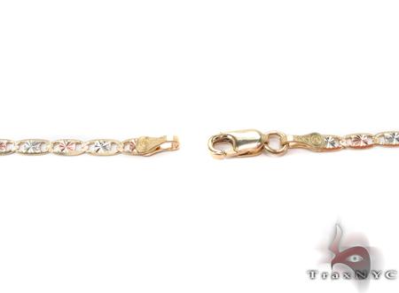 14K Three Tone Gold Valentine Chain 16 Inches 2.5mm 3.50 Grams Gold