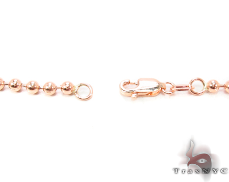 14K Rose Gold Beads Chain 22 Inches 3mm 15.4 Grams Gold