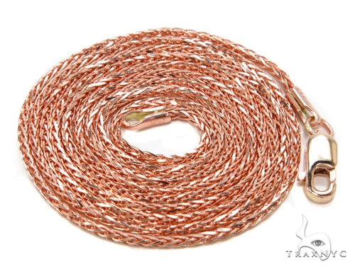 14K Rose Gold Chain 22 Inches, 2mm, 4.1 Grams Gold