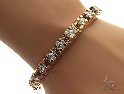 14K Rose Gold Channel Tension Diamond Bracelet 63240 Diamond