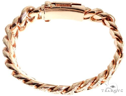 14K Gold Diamond Bracelet With Custom Lock 63946 Diamond