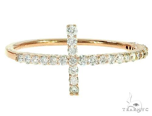 14K Gold Diamond Cross Ring 65691 Anniversary/Fashion