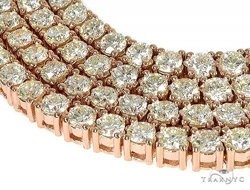 14K Rose Gold Diamond Tennis Chain 50.30 Grams 22 Inches 3.70mm 66257 Diamond