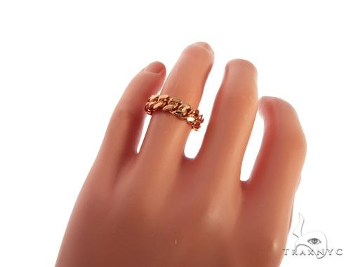 14K Rose Gold Miami Cuban Link Ring 63187 Metal