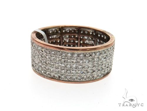 14K Rose Gold Micro Pave Diamond Ring 63569 Stone