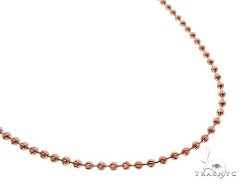 14K Rose Gold Moon Cut Chain 20 Inches 3mm 12.0 Grams 64607 Gold