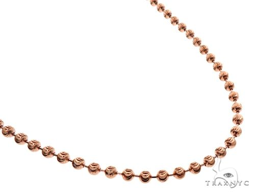 14K Rose Gold Moon Cut Chain 26 Inches 5mm 41.0 Grams 64614 Gold