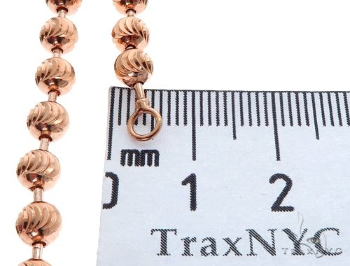 14K Rose Gold Moon Cut Chain 30 Inches 5mm 36.0 Grams 64616 Gold