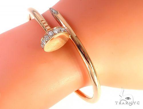14K Rose Gold Nail Bracelets 65526 Gold