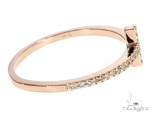 14K Rose Gold Prong Diamond Cross Ring 65306 Anniversary/Fashion
