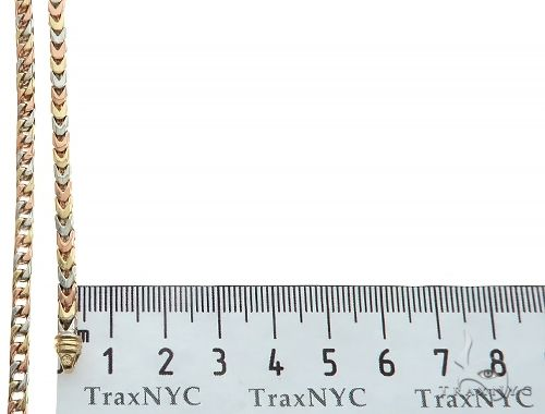 14K Tri Color Franco Link Chain 27 Inches 3.7mm 55.90 Grams 65815 Gold